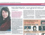 Nicole son grand retour/Le Courrier de St-Hyacinthe